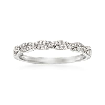 .15 ct. t.w. Diamond Braided Ring in 14kt White Gold