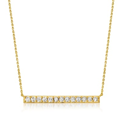 1.00 ct. t.w. Diamond Bar Necklace in 18kt Gold Over Sterling