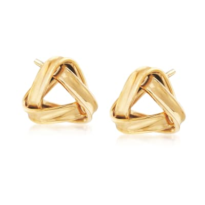 22kt Yellow Gold Knot Earrings