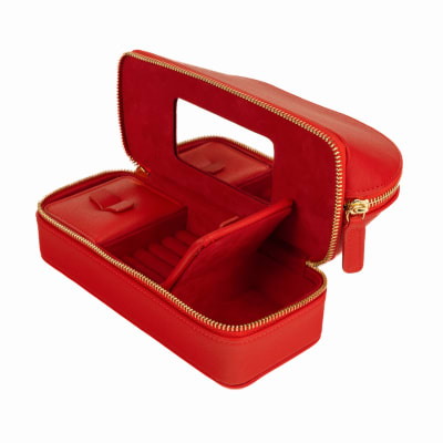 "Brouk & Co.'s ""Abby"" Red Faux Leather Travel Organizer"