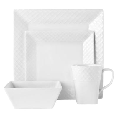 "Mikasa ""Trellis Square"" 16-pc. Service for 4 Dinnerware Set"