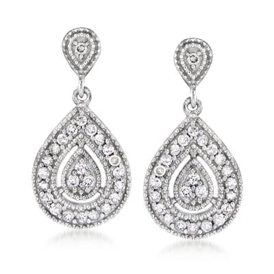 .50 ct. t.w. Diamond Teardrop Earrings in Sterling Silver