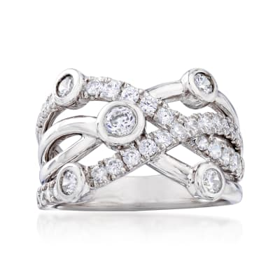 .92 ct. t.w. CZ Highway Ring in Sterling Silver
