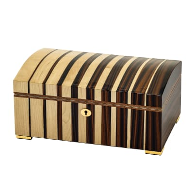 Maple Wood with Ebony Veneer Locking Jewelry Box