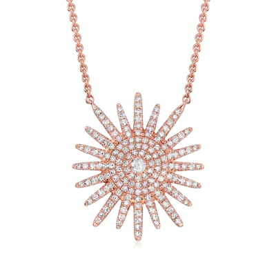 .50 ct. t.w. Diamond Star Necklace in 18kt Rose Gold