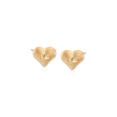 Child's Heart 14kt Yellow Gold Heart Stud Earrings