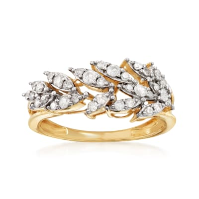 .50 ct. t.w. Diamond Leaf Ring in 14kt Yellow Gold