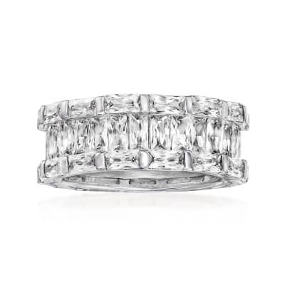 9.30 ct. t.w. CZ Eternity Band in Sterling Silver