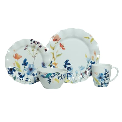 "Fitz and Floyd ""Floral Splash"" 16-pc. Service for 4 Dinnerware Set"