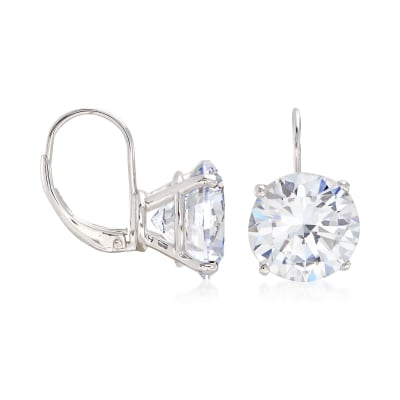 13.00 ct. t.w. Round CZ Drop Earrings in Sterling Silver
