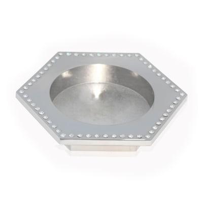 Crystamas Swarovski Crystal Platinum-Colored Hexagon Wine Coaster