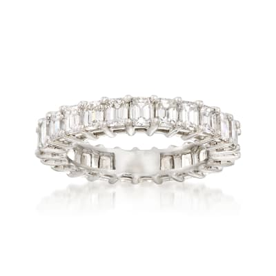 3.00 ct. t.w. Emerald-Cut Diamond Eternity Band in Platinum