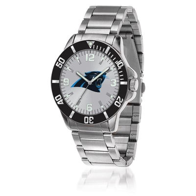 Men's 46mm NFL Carolina Panthers Stainless Steel Key Watch