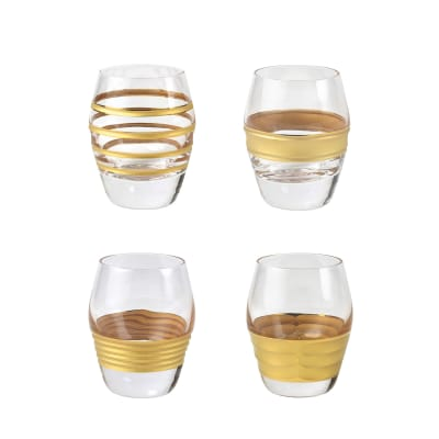 "Vietri ""Raffaello"" Set of 4 Liquor Glasses from Italy"