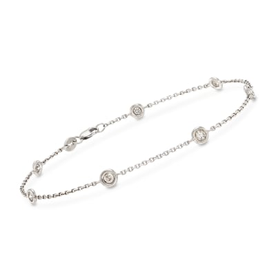 .50 ct. t.w. Diamond Bracelet in 14kt White Gold