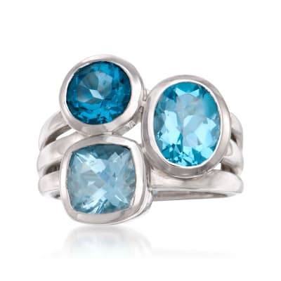 4.00 ct. t.w. Blue Topaz Ring in Sterling Silver