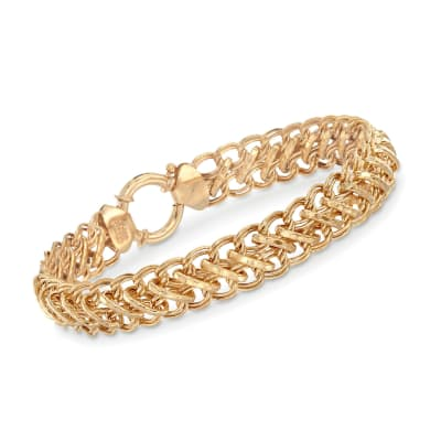 14kt Gold Over Sterling Multi-Link Bracelet