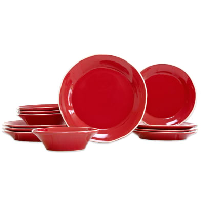 "Vietri ""Chroma"" 12-pc. Service for 4 Red Place Setting"
