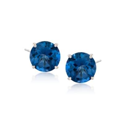 8.50 ct. t.w. Mystic Blue Topaz Stud Earrings in Sterling Silver