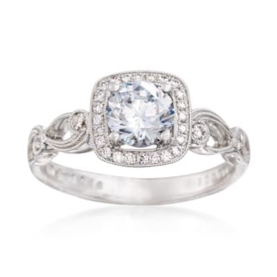 Simon G. .16 ct. t.w. Diamond Engagement Ring Setting in 18kt White Gold