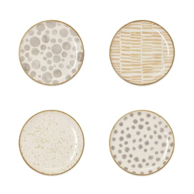 "Vietri ""Earth"" Set of 4 Assorted Dinnerware"