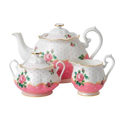 "Royal Albert ""Cheeky Pink"" 3-pc. Tea Set"