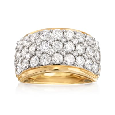 3.00 ct. t.w. Diamond Multi-Row Ring in 14kt Yellow Gold
