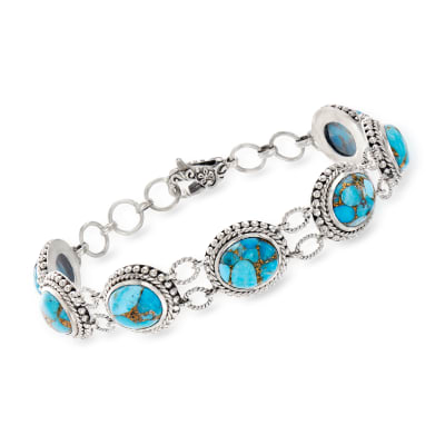Mojave Turquoise Station Bracelet in Sterling Silver