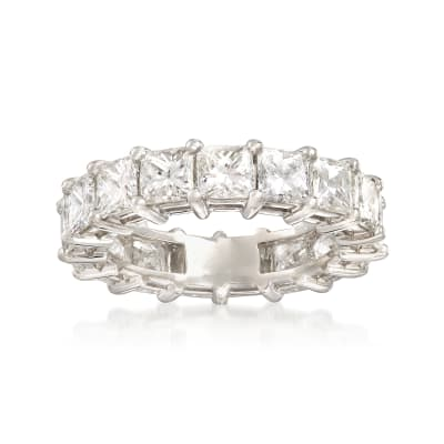 5.50 ct. t.w. Princess-Cut Diamond Eternity Band in Platinum