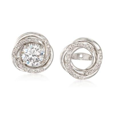 .10 ct. t.w. Diamond Swirl Earring Jackets in Sterling Silver