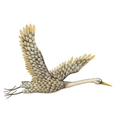 Regal Metal Egret Wall Decor