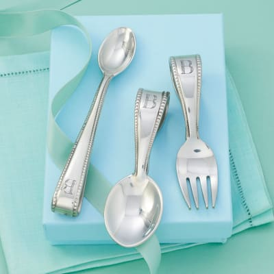 Reed & Barton Pewter Personalized Baby Flatware