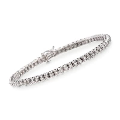 1.00 ct. t.w. Diamond Tennis Bracelet in Sterling Silver