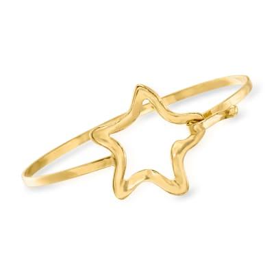 Italian 18kt Gold Over Sterling Open-Space Star Bracelet