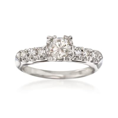 C. 2000 Vintage .61 ct. t.w. Diamond Engagement Ring in Platinum