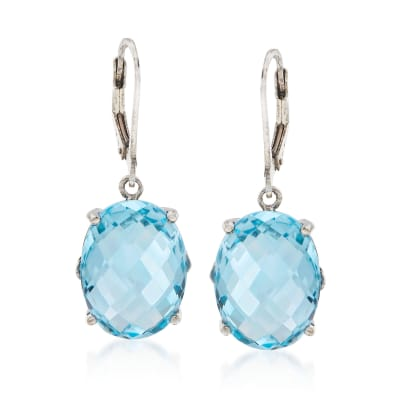 20.00 ct. t.w. Sky Blue Topaz Drop Earrings in Sterling Silver