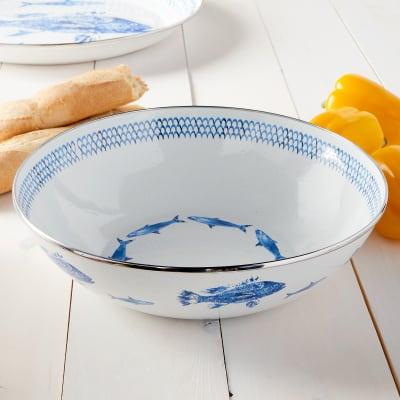 Golden Rabbit Fish Camp Dinnerware - Serving Bowl