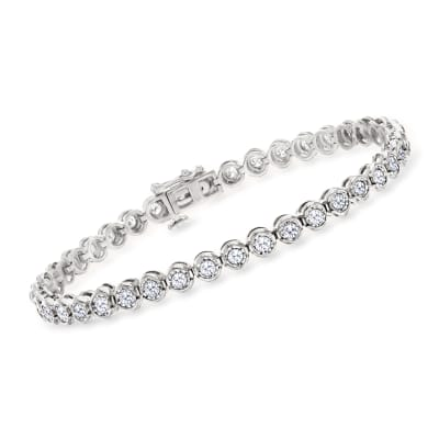 2.00 ct. t.w. Bezel-Set Diamond Bracelet in Sterling Silver