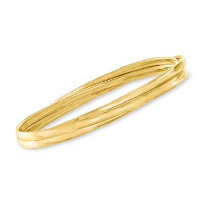 Italian 18kt Gold Over Sterling Interlocking Triple-Bangle Bracelet