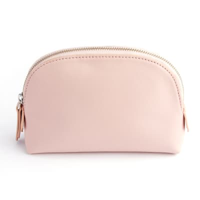 Royce Blush Pink Leather Cosmetic Case