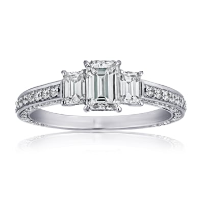 1.50 ct. t.w. Diamond Three-Stone Ring in Platinum