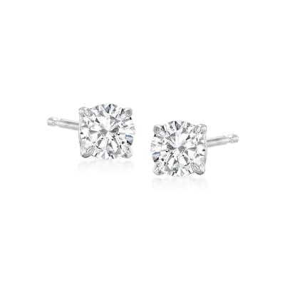 .50 ct. t.w. Diamond Stud Earrings in 14kt White Gold