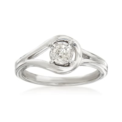 .25 Carat Diamond Loop Ring in Sterling Silver