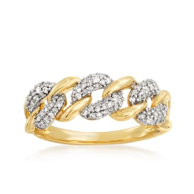 .30 ct. t.w. Diamond Link Ring in 14kt Yellow Gold