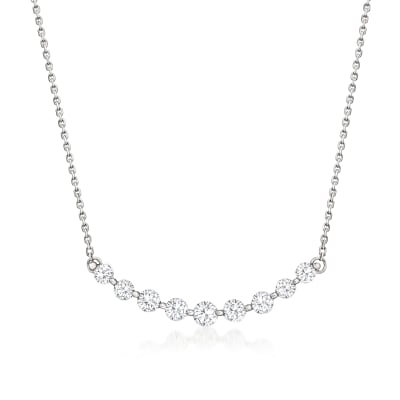 1.20 ct. t.w. Diamond Curve Necklace in 14kt White Gold