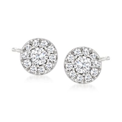 .12 ct. t.w. Diamond Cluster Stud Earrings in Platinum