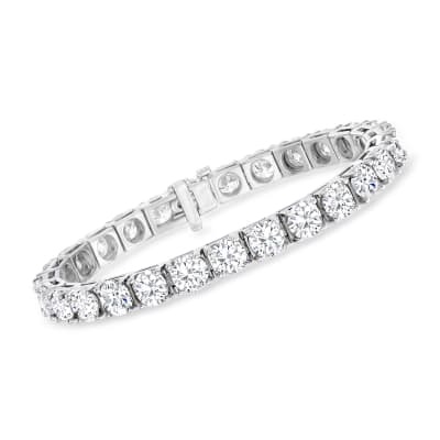 25.00 ct. t.w. Diamond Tennis Bracelet in 14kt White Gold