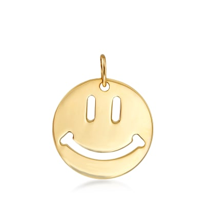 14kt Yellow Gold Smiley Face Pendant
