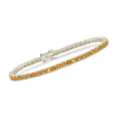 5.00 ct. t.w. Citrine Tennis Bracelet in Sterling Silver