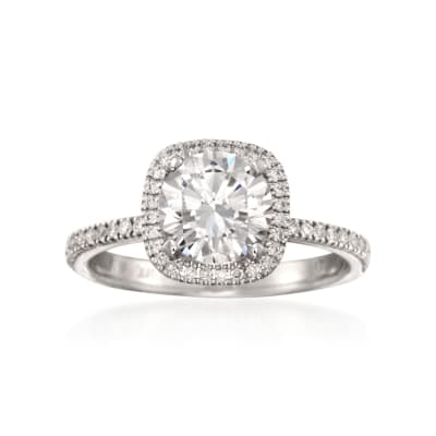 Simon G. .30 ct. t.w. Diamond Engagement Ring Setting in 18kt White Gold
